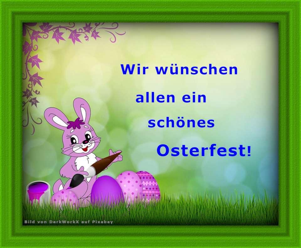 Bild mit Osterwünschen